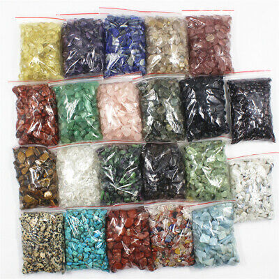 AU13.90 • Buy 10g-100g Natural Gemstone Tumbled Crystal Chips Chakra Wicca Jewelry Craft