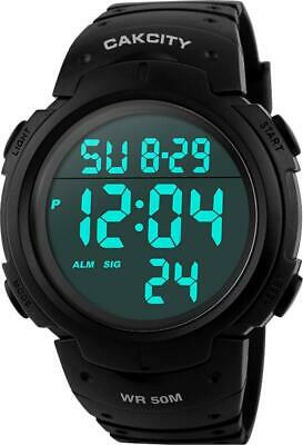 AU36.99 • Buy Men's Digital Sports Watch LED Screen Large Face Military Watches And Casual -