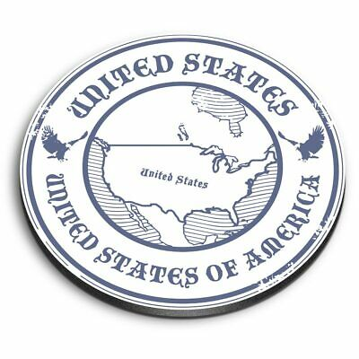 Round MDF Magnets - United States Of America Travel Map  #4487 • 3.99£