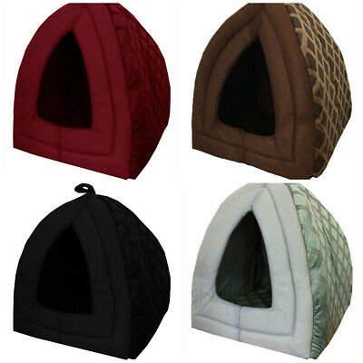 £9.99 • Buy Luxury Small Pet House Igloo Dog Cat Soft Comfy Bed Cats Dogs Beds Houses