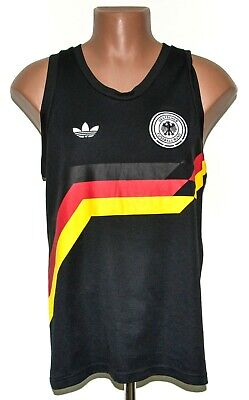 Germany National Team 2016 Football Vest Shirt Jersey Adidas Size M 1990 Style • 54.99£