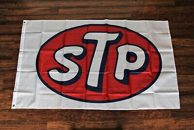 STP Banner Flag Motor Oil Racing 3x5 Auto Car Parts Red White Blue New • 8.66£