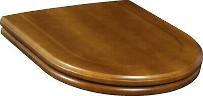 Villeroy & Boch HOMMAGE WC-SEAT AND COVER Solid Birch Walnut Stain Stainless • 199£