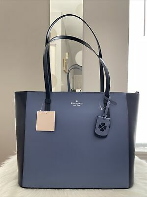 $ CDN158.57 • Buy New Kate Spade Schuyler Medium Leather Tote Bag Blueberry Great Gift