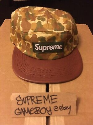 $ CDN125.52 • Buy Supreme Duck Camo Camp Cap Leather Brim SS12 2012 Tan Olive Supny Hat Authentic
