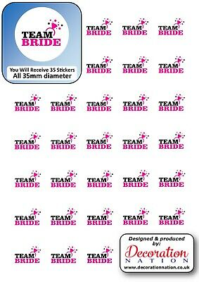 Team Bride STICKERS Decoration Fun Adults Hen Do Party Wedding Engaged Drinking • 2.79£