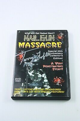 NAIL GUN MASSACRE DVD Mega Rare SIGNED BY THE DIRECTOR Rape And Revenge • 141.98£