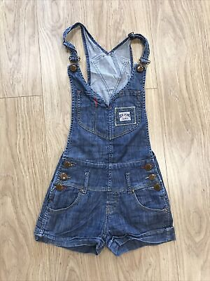 """Girls Dungarees Shorts Age 11–12 Years (24"""" W) SCD Jeans Blue JG377 • 9.99£"""