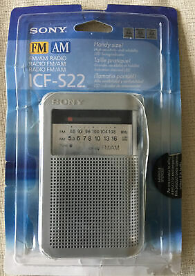 Vintage Sony ICF-S22 FM/AM 2 Band Portable Radio In Original Packaging • 9.40£