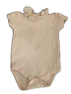 Baby Boden Bodysuit Vest With Lace Collar. • 0.99£