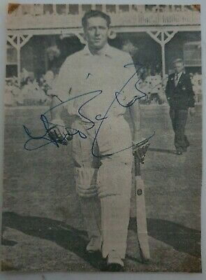 AU11.25 • Buy Trevor Bailey Signed In Person Newspaper Picture England Ashes Cricket
