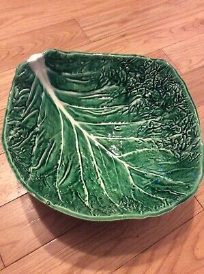 £70 • Buy Vtg Rare 1970s Retro Majolica Ceramic Green Cabbage Leaf Salad Bowl