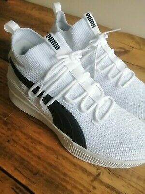 BNIB White Puma Mens Clyde Court Basketball Shoes Puma Trainers. Size Uk 11 New • 44.99£