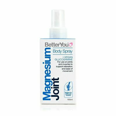£8.95 • Buy BetterYou Magnesium Joint Body Spray Vegan Glucosamine - 100ml ( Free Delivery )