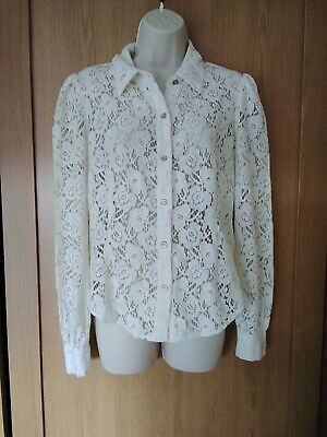 Phase Eight Ivory Lace Blouse/top Size 10 • 3.99£