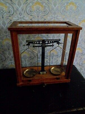 Vintage Laboratory Scales Cased Chemistry Scales In Very Good Condition B29 Coll • 72.99£