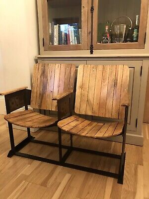 Industrial Style Cinema Seats, Vintage Dining Solid Wood, Man Cave, Home Bar, • 200£
