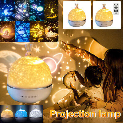 AU35.99 • Buy LED Night Star Sky Projector Light Lamp Rotating Starry Baby Room Kids Gift 🐮