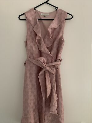 AU14 • Buy Forever New Pink Wrap Dress Size 8