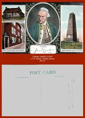 £3.50 • Buy  CAPTAIN JAMES COOK...  J.T.R. Series, Whitby (Ross) Early Multi-view Postcard