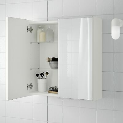 NEW Bathroom Mirror Cabinet With 2 Doors White Ikea Lillangen NEW • 25£