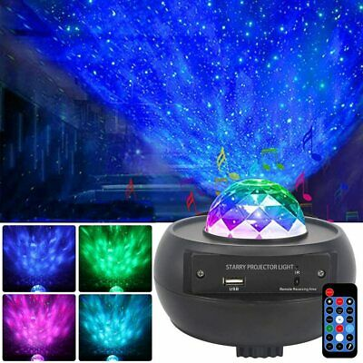 LED Galaxy Projector Light Ocean Wave Star Sky Night Lamp With Music Speaker NEW • 24.89£