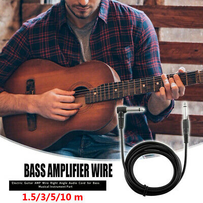 $ CDN9.69 • Buy Musical Instrument Amp Cord Adapter Electric Guitar Amplifier Cable Right Angle