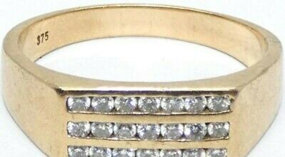 AU1450 • Buy Mens 9ct Gold And Diamond Ring