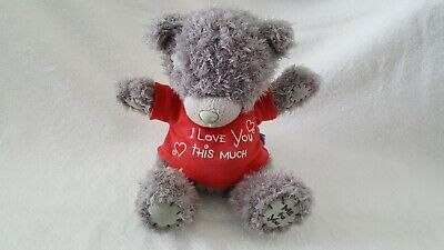 Me To You Tatty Teddy With  I Love You This Much  T-Shirt - Medium Size • 3£