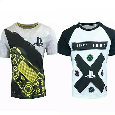 PlayStation Boys Top T-Shirt Short Sleeve Kids Childrens Games Console Casual • 6.99£