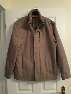 Atlantic Bay Mens Light Brown Fully Lined Coat Size Small • 2.99£