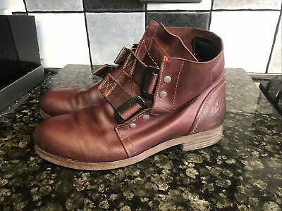 Womens Fly London Stif Rug Boots Biker Style Size 6 • 32.50£