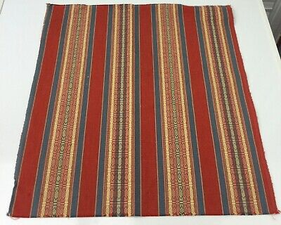 Woven Decorative Stripes Furnishing Fabric Sample Remnant Piece • 2.99£
