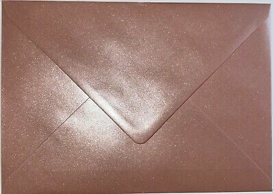 AU10.70 • Buy  C5 PEARL ROSE GOLD Coloured Envelopes-Party Invitations Craft Greeting Card X25