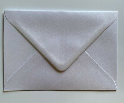 AU14.27 • Buy  C5 PEARL WHITE Coloured Envelope For Party Invitations Craft Greeting Card X50