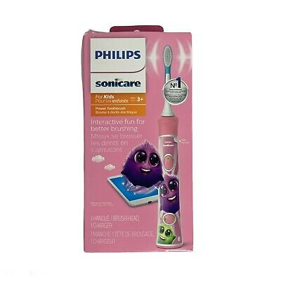AU58.09 • Buy Philips Sonicare For Kids Rechargeable Toothbrush - Pink/White