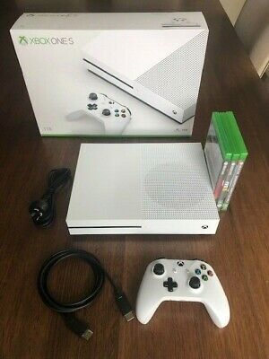 AU238 • Buy Xbox One S 1TB + 1 Controller And 3 Games - Excellent Condition