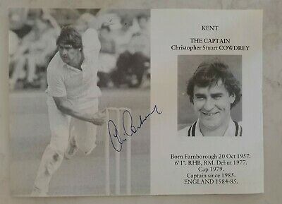 AU12.50 • Buy Chris Cowdrey Rare Signed Book Plate Pen Pic Picture England Cricket Ashes