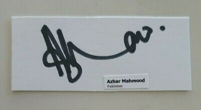 AU5.62 • Buy Azhar Mahmood Cricket Signed In Person Pakistan Test Neat Index Card