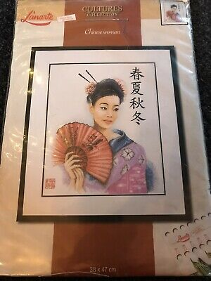Lanarte Culture Cross Stitch Collection - Chinese Woman -nip-oop • 45.95£