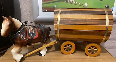 Vintage Shire Horse And Cart Ornament • 45£