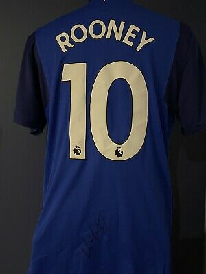 £200 • Buy Signed Wayne Rooney Everton Shirt With Proof