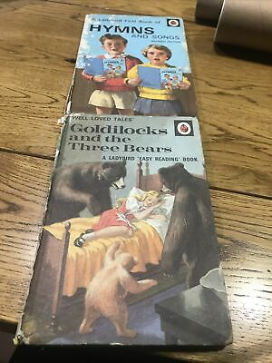 1970's LADYBIRD BOOKS GOLDILOCKS AND HYMNS AND SONGS • 5£