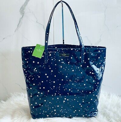 $ CDN86.07 • Buy NWT Kate Spade Bon Shopper Daycation Night Sky Blue Tote Shoulder Bag Stars Gift