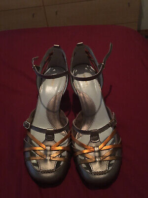 Ladies Bronx Metallic Leather Shoes Size 4 Worn Once For A Few Hours • 19.99£