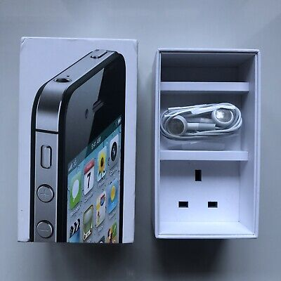 £9 • Buy Apple IPhone 4s Black Box - With Brand New Earpods Accessories
