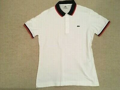 Mens Lacoste Polo Shirt Size Large (5) White  • 15£