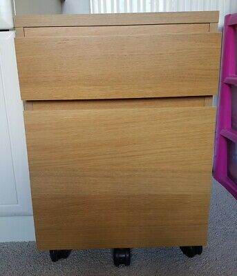 Ikea Malm Oak Office Desk Chest Of Drawers Drawer Unit With Hanging Suspension • 25£
