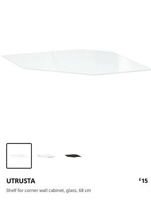 Utrusta Glass Shelf Corner Wall Cupboard • 20£