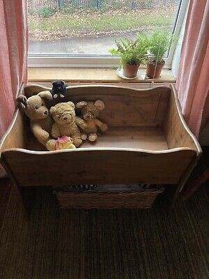 £70 • Buy Baby Christina Vintage Crib Bench Real Wood Rocking Sturdy In Great Condition